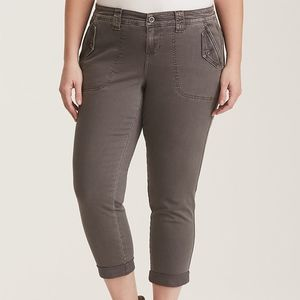 Torrid Cropped Twill Military Pant